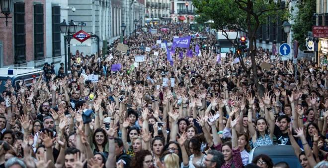 manada madrid sentencia frente de estudiantes