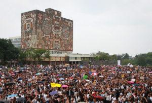 Movilización de cientos de miles de estudiantes en la UNAM