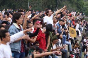 Estudiantes de la UNAM durante estas pasadas semanas.