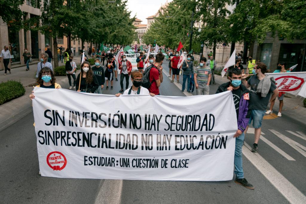 Foto de la manifestacion del 18S